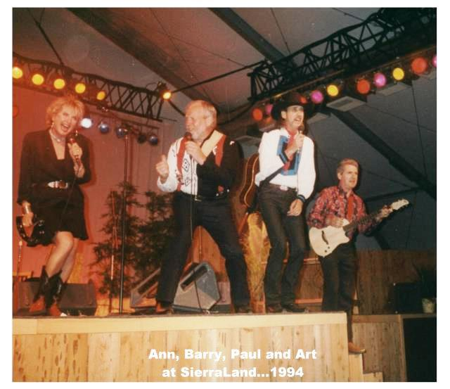 Barry,Paul,Annie,Art on stage
